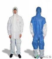 3M 4535 白色带帽连体防护服( 蓝色背部透气设计)原4640升级
